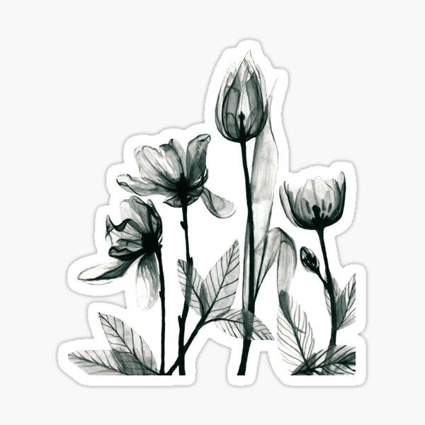 X-Ray Flowers 2 Sticker