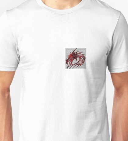 Mosaic red dragon head T-Shirt