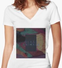 Glass Animals  Women's Fitted V-Neck T-Shirt
