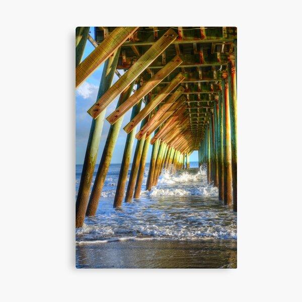 Golden Sunset Under The Pier Canvas Print