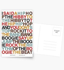 Rapper's Delight - Sugarhill Gang Postcards