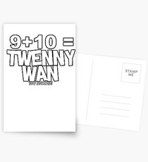 Whats 9 plus 10? Postcards