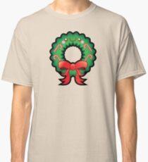 Cute Kawaii Christmas Wreath Classic T-Shirt