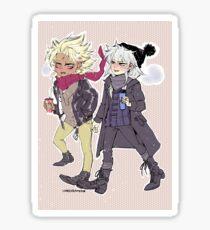 Chibi Marik + Bakura Sticker