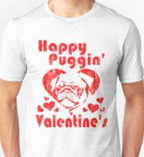 Funny Valentines Day Shirt with Cute Pug Unisex T-Shirt
