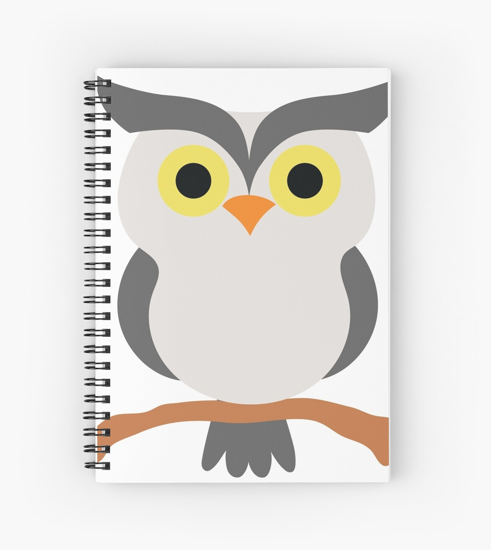 Night Owl Emoji Watch In Silent Face Spiral Notebooks By Teeandmee
