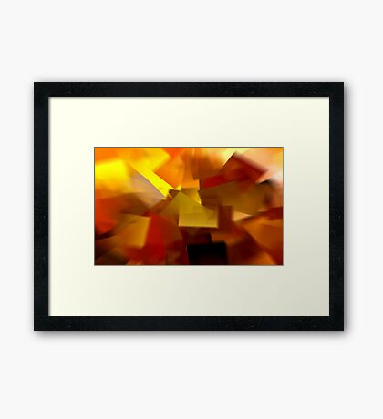 Cubistic Tendencies Framed Print