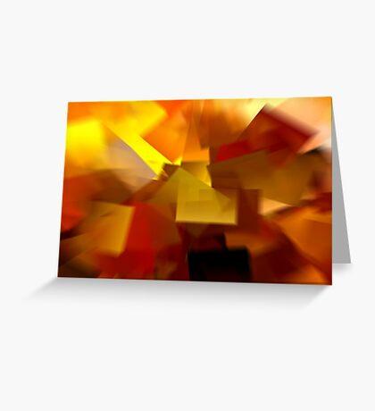 Cubistic Tendencies Greeting Card