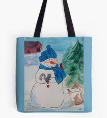 Snowman/Snowmen - Dimples the Snowman with friends Tote Bag