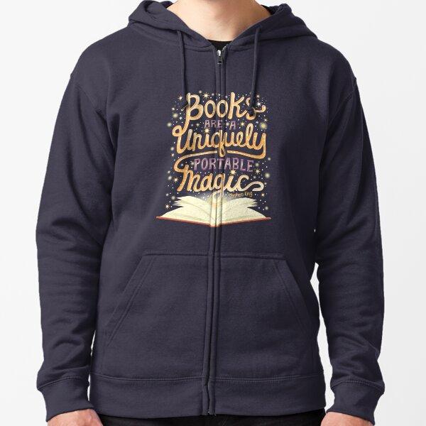 Books are magic Zipped Hoodie
