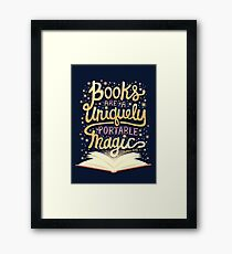 Books are magic Framed Print