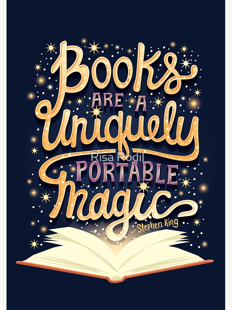Los libros son mágicos de risarodil