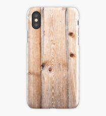 Light wooden background. Raw planks iPhone Case/Skin