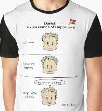 Danish Happiness Expression Graphic T-Shirt