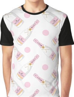 Cute pink pattern with MOET champagne for girls Graphic T-Shirt