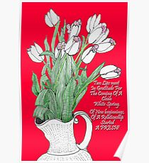 A pitcher of Tulips Poster