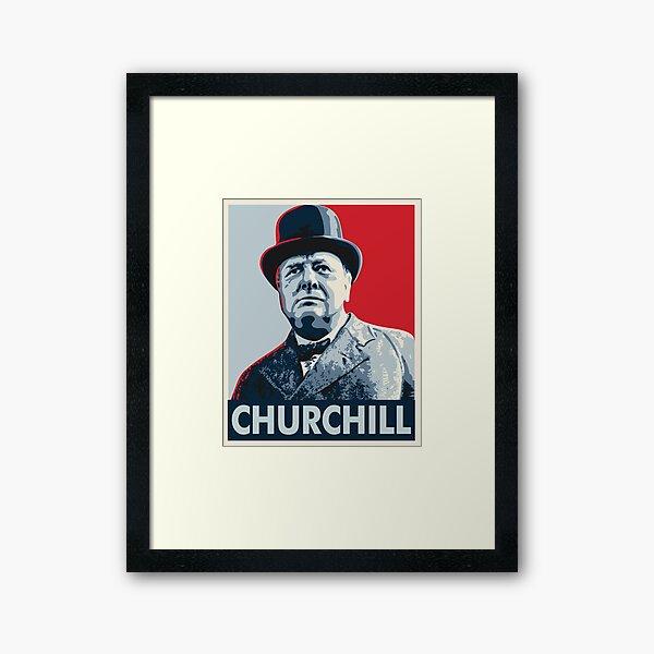 Winston Churchill Framed Art Print