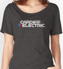 CARDIFF ELECTRIC WHITE Women's Relaxed Fit T-Shirt