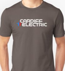 CARDIFF ELECTRIC WHITE Slim Fit T-Shirt