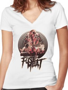 fuse meat - fury road Women's Fitted V-Neck T-Shirt