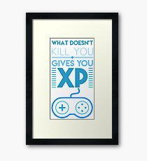 what doesn't kill you... Framed Print