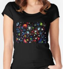 To the Moon and Beyond - Abstract Fitted Scoop T-Shirt