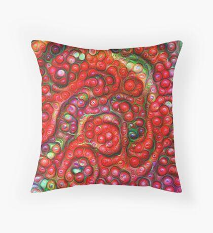 Vaccinium vitis-idaea #DeepDream Throw Pillow