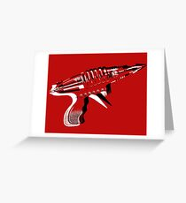 Raygun Greeting Card