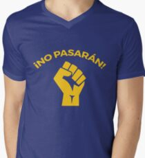 No pasaran Men's V-Neck T-Shirt
