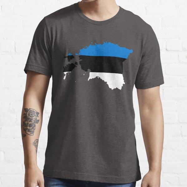 Estonia Flag Map Essential T-Shirt