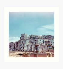 Enna, Sicily, Italy on film. Art Print