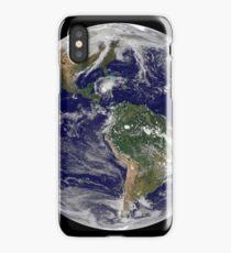 Full Earth showing Hurricane Paloma. iPhone Case/Skin