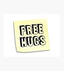 FREE HUGS - Post It Photographic Print