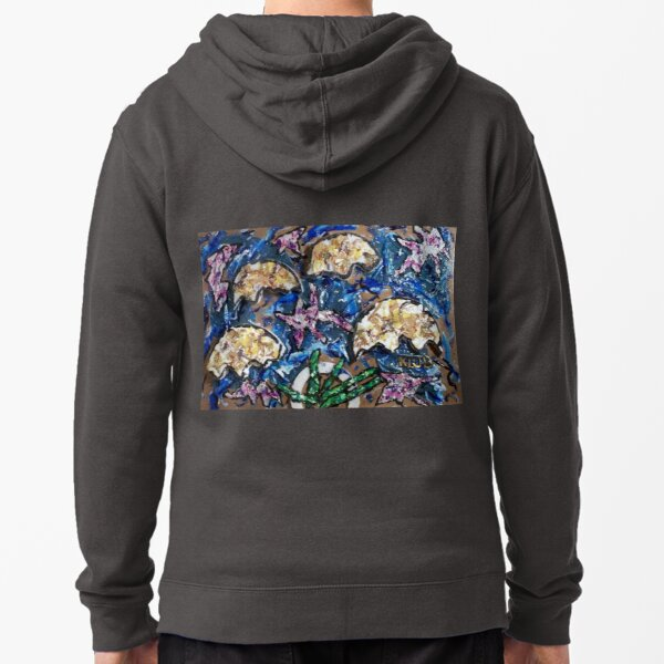 Rising of the Moon (animation in a single frame) Zipped Hoodie