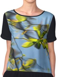 Reflections of the way life used to be Women's Chiffon Top