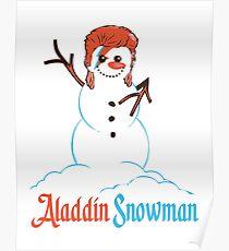 Aladdin Snowman Poster