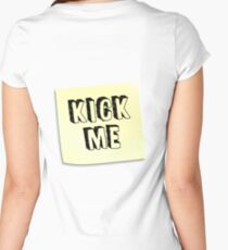 Kick Me! - Post-it Note Women's Fitted Scoop T-Shirt