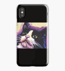 Tuxedo Cat Bright colorful pop kitty art iPhone Case/Skin
