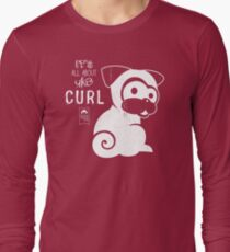 It's All About the Curl Tee (Vintage Look) Long Sleeve T-Shirt