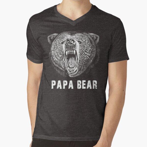 Papa Bear T-shirt V-Neck T-Shirt