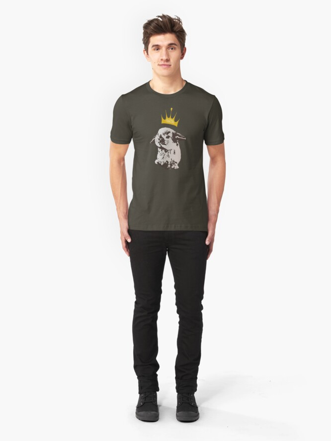 Alternate view of Grumpy Bunny Slim Fit T-Shirt