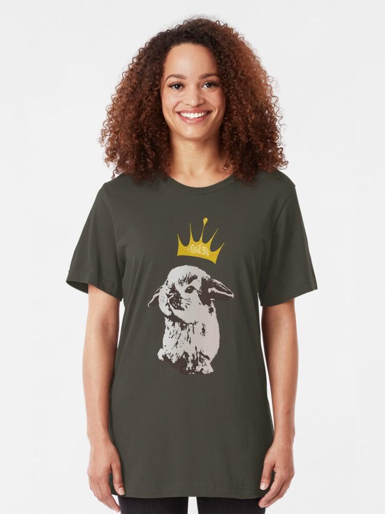 Alternate view of Grumpy Bunny Slim Fit T-Shirt
