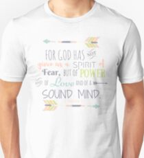2 Timothy 1:7 Bible Verse Unisex T-Shirt