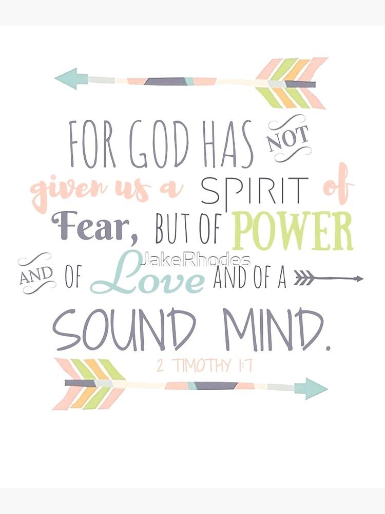 2 Timoteo 1: 7 Versículo de la Biblia de JakeRhodes