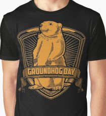 Groundhog Day With Groundhog Graphic T-Shirt