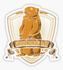 Groundhog Day With Groundhog Sticker