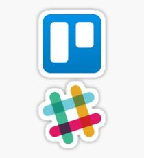 Trello and Slack Sticker