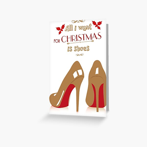 Christian Louboutin by Santa Claus Greeting Card