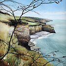 Towards Llantwit Major - South Wales coastal view by Helen Lush