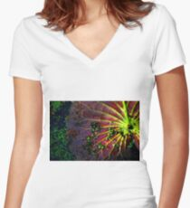 Cypress Swamp Lily Pad Women's Fitted V-Neck T-Shirt